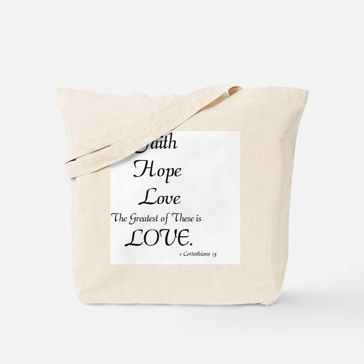 Cute Hope faith love support believe Tote Bag