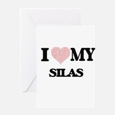 I Love my Silas (Heart Made from Lo Greeting Cards