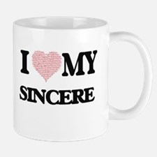 I Love my Sincere (Heart Made from Love my wo Mugs
