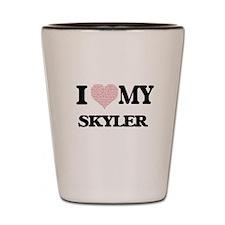 I Love my Skyler (Heart Made from Love Shot Glass