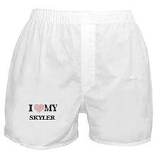 I Love my Skyler (Heart Made from Lov Boxer Shorts