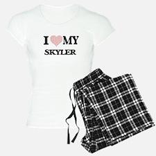 I Love my Skyler (Heart Mad Pajamas