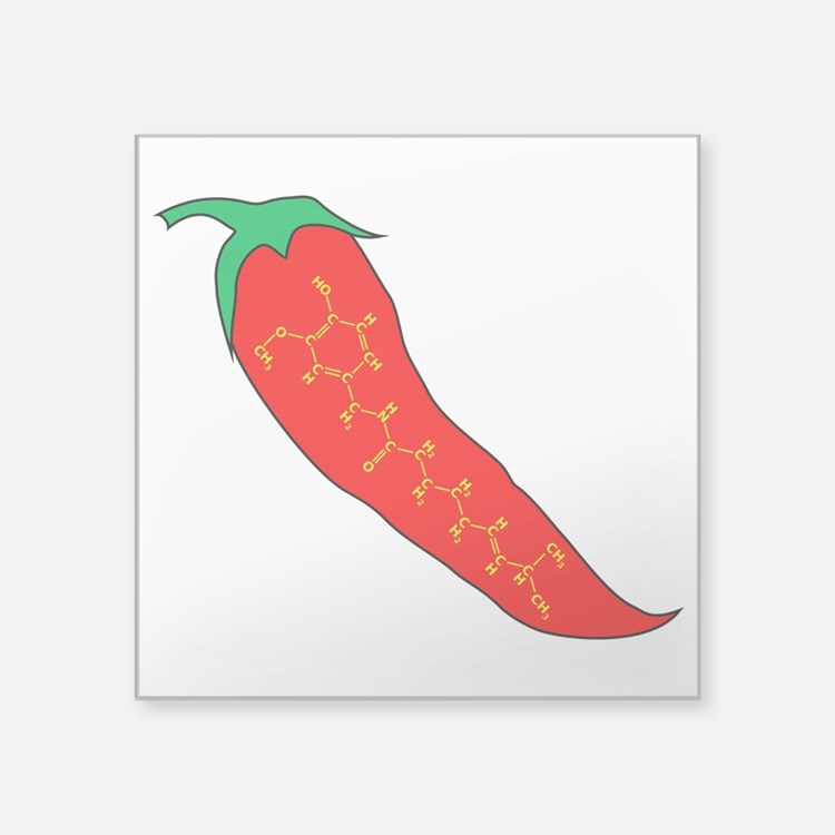 Capsaicin Pepper Sticker