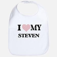 I Love my Steven (Heart Made from Love my word Bib