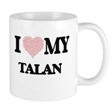 I Love my Talan (Heart Made from Love my word Mugs
