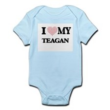 I Love my Teagan (Heart Made from Love m Body Suit