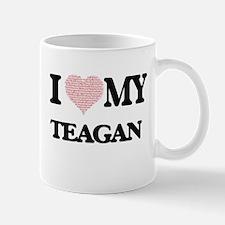 I Love my Teagan (Heart Made from Love my wor Mugs