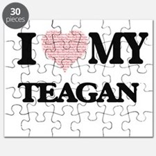 I Love my Teagan (Heart Made from Love my w Puzzle