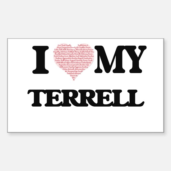 I Love my Terrell (Heart Made from Love my Decal