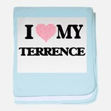 I Love my Terrence (Heart Made from L baby blanket