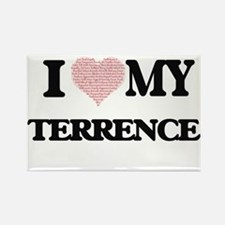 I Love my Terrence (Heart Made from Love m Magnets
