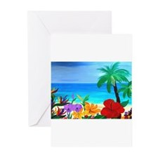 Cute Tropical Greeting Cards (Pk of 10)