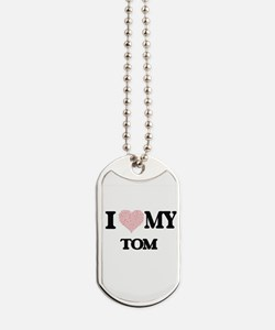 I Love my Tom (Heart Made from Love my wo Dog Tags