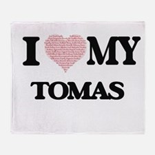 I Love my Tomas (Heart Made from Lov Throw Blanket