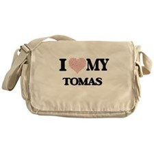 I Love my Tomas (Heart Made from Lov Messenger Bag