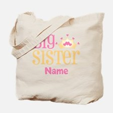 Big Sister Princess Crown Personalized Tote Bag