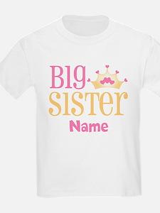 Big Sister Princess Crown Personalized T-Shirt