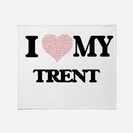 I Love my Trent (Heart Made from Lov Throw Blanket