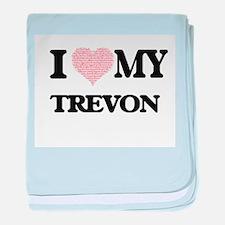 I Love my Trevon (Heart Made from Lov baby blanket