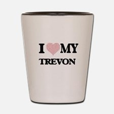 I Love my Trevon (Heart Made from Love Shot Glass