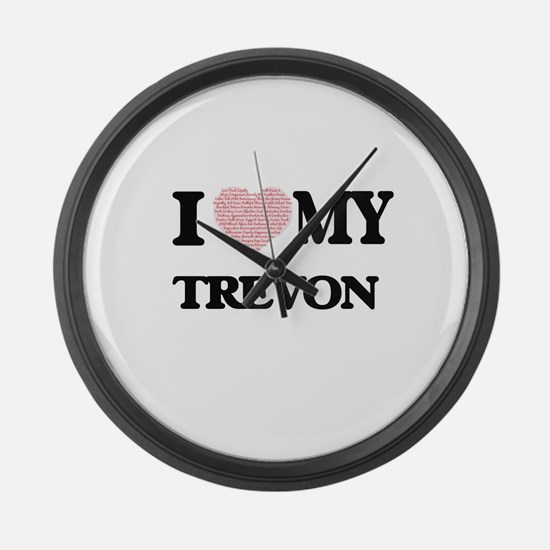 I Love my Trevon (Heart Made from Large Wall Clock