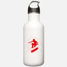 board with bubbles Water Bottle
