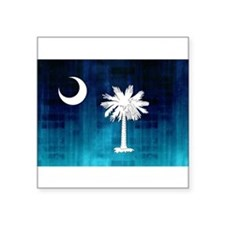 "Cool South carolina palmetto tree Square Sticker 3"" x 3"""