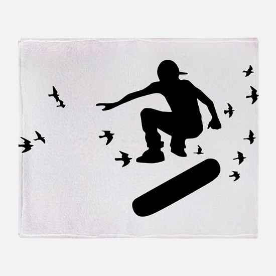 board with birds Throw Blanket