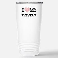 I Love my Trystan (Hear Stainless Steel Travel Mug