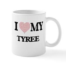 I Love my Tyree (Heart Made from Love my word Mugs