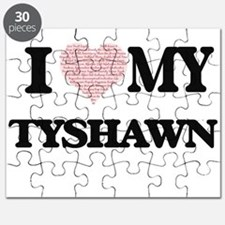 I Love my Tyshawn (Heart Made from Love my Puzzle