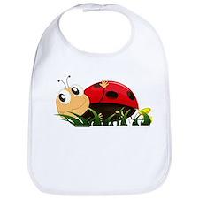 Cute Cartoon Ladybird Bib