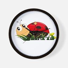 Cute Cartoon Ladybird Wall Clock