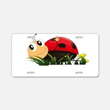 Cute Cartoon Ladybird Aluminum License Plate