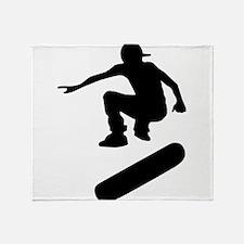 skateboard silhouette Throw Blanket
