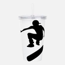 skateboard silhouette Acrylic Double-wall Tumbler