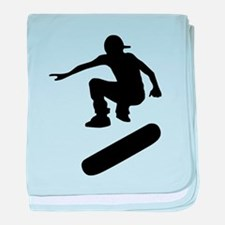 skateboard silhouette baby blanket