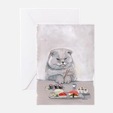 Unique Japanese cat Greeting Cards (Pk of 10)