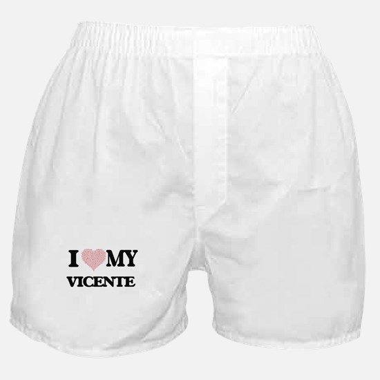 I Love my Vicente (Heart Made from Lo Boxer Shorts