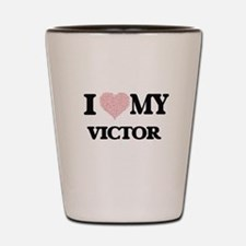 I Love my Victor (Heart Made from Love Shot Glass