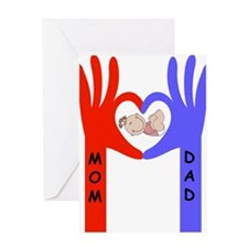 Baby love hands Greeting Cards