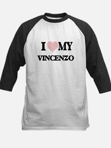 I Love my Vincenzo (Heart Made fro Baseball Jersey