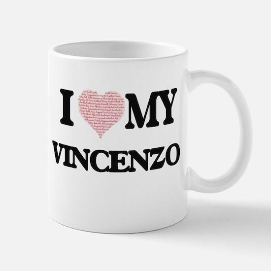 I Love my Vincenzo (Heart Made from Love my w Mugs