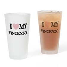 I Love my Vincenzo (Heart Made from Drinking Glass