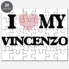 I Love my Vincenzo (Heart Made from Love my Puzzle