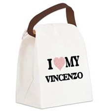 I Love my Vincenzo (Heart Made fr Canvas Lunch Bag