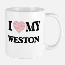I Love my Weston (Heart Made from Love my wor Mugs