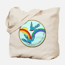 Cute Vintage bluebird Tote Bag