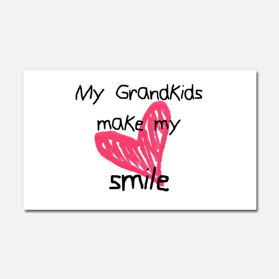 Grandkids make my heart smile Car Magnet 20 x 12