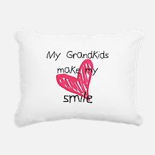 Grandkids make my heart smile Rectangular Canvas P